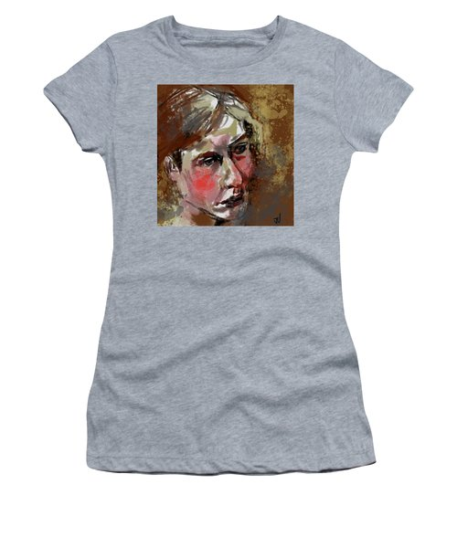 Women's T-Shirt (Athletic Fit) featuring the digital art Vanessa by Jim Vance