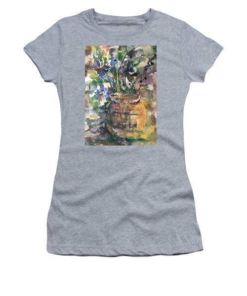 Vase Of Many Colors Women's T-Shirt (Junior Cut) by Robin Miller-Bookhout