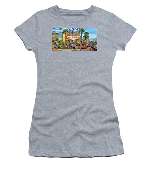 Women's T-Shirt featuring the photograph Vegasstrong by Michael Rogers