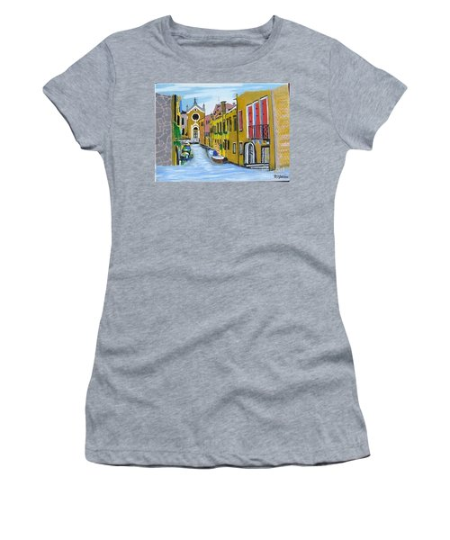 Women's T-Shirt (Junior Cut) featuring the painting Venice In September by Rod Jellison