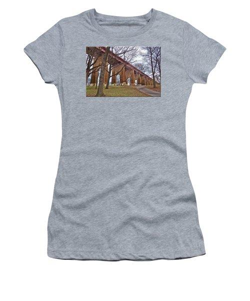 Viaduct Women's T-Shirt (Junior Cut) by Mikki Cucuzzo