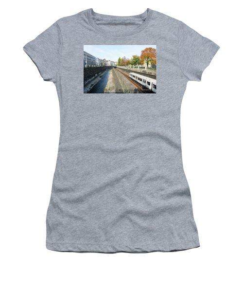 Vienna Canal Women's T-Shirt (Junior Cut) by Christian Slanec