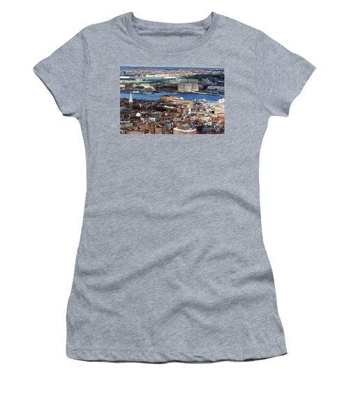 View Of Charlestown Navy Yard Women's T-Shirt