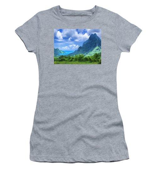 View Of Cook's Bay Mo'orea Women's T-Shirt