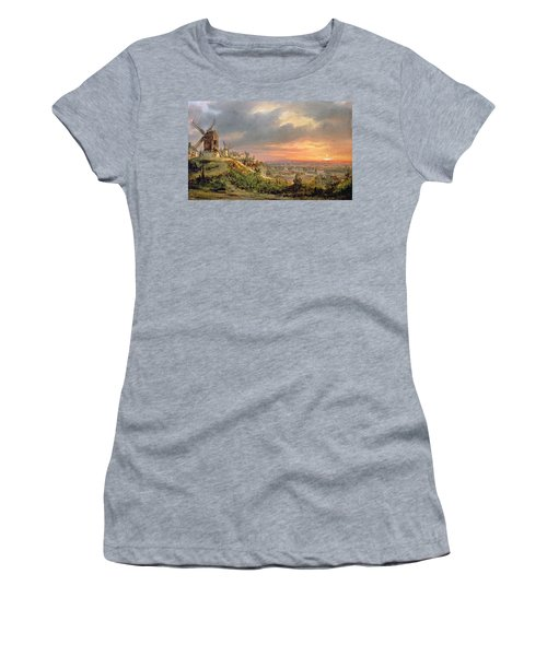 View Of The Butte Montmartre Women's T-Shirt (Athletic Fit)