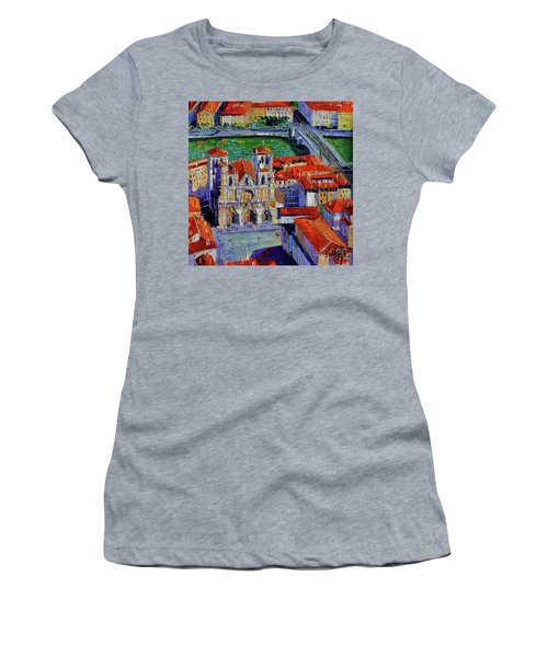 View Over Cathedral Saint Jean Lyon Women's T-Shirt (Athletic Fit)