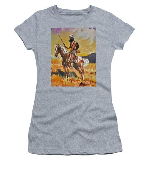 Vigilante Apache Women's T-Shirt (Junior Cut) by Al Brown