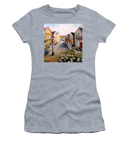 Village Street Women's T-Shirt (Athletic Fit)