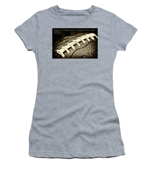 Vince Lombardi Perfection Quote Women's T-Shirt (Junior Cut) by David Patterson