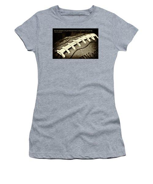 Vince Lombardi Quote Women's T-Shirt (Junior Cut) by David Patterson