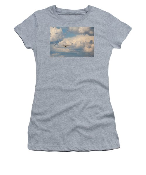 Women's T-Shirt (Athletic Fit) featuring the photograph Vintage Airplane by Fran Riley