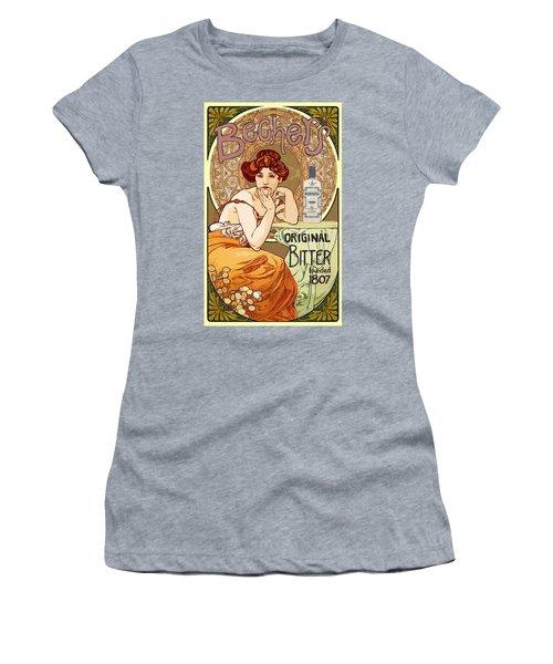 Vintage Art Nouveau Bechers Original Bitter 1807 Women's T-Shirt