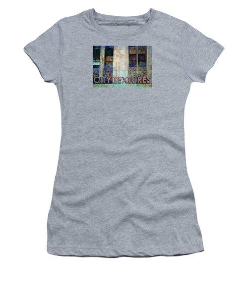Vintage City Textures Women's T-Shirt (Junior Cut) by John Fish