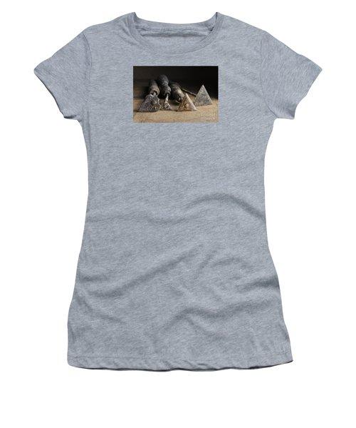Women's T-Shirt (Junior Cut) featuring the photograph Vintage Paint Scrapers. by Trevor Chriss