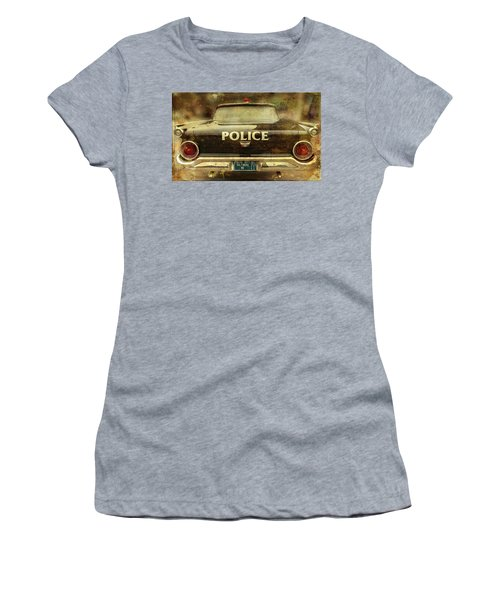 Vintage Police Car - Baltimore, Maryland Women's T-Shirt