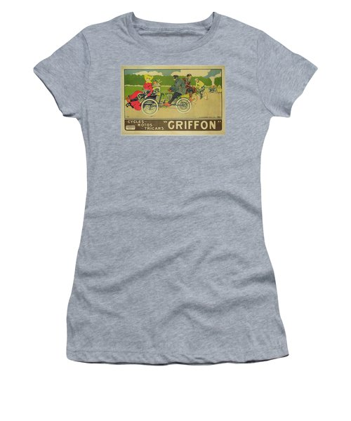 Vintage Poster Bicycle Advertisement Women's T-Shirt (Athletic Fit)