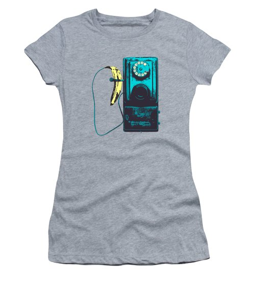 Vintage Public Telephone Women's T-Shirt (Athletic Fit)