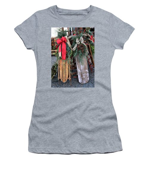 Vintage Sleds Women's T-Shirt (Athletic Fit)