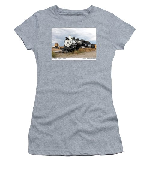 Vintage Train At A Scenic Railroad Station In Antonito In Colorado Women's T-Shirt (Athletic Fit)