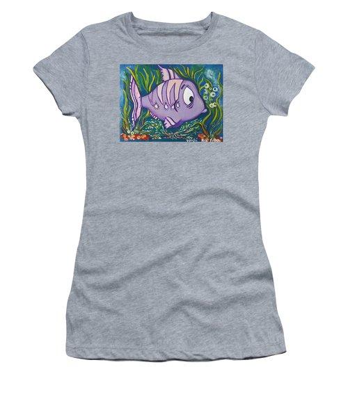 Violet Fish Women's T-Shirt (Athletic Fit)