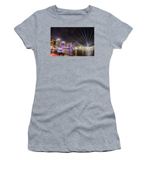 Women's T-Shirt (Athletic Fit) featuring the photograph Vivid Sydney Skyline By Kaye Menner by Kaye Menner