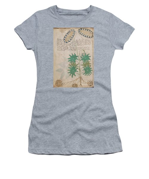 Voynich Flora 04 Women's T-Shirt (Athletic Fit)