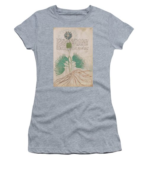 Voynich Flora 16 Women's T-Shirt (Athletic Fit)