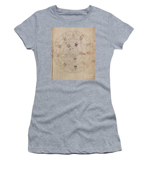 Voynich Manuscript Astro Aries Women's T-Shirt (Athletic Fit)