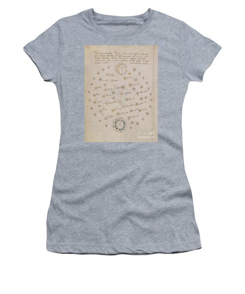 Voynich Manuscript Astro Sun And Moon 1 Women's T-Shirt