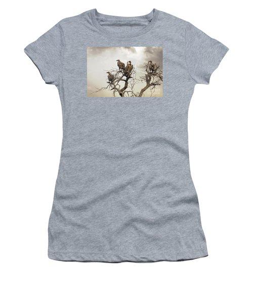 Vultures In A Dead Tree.  Women's T-Shirt (Junior Cut) by Jane Rix