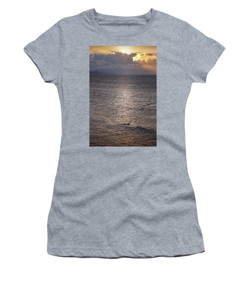 Waiting For The Last Wave Of The Day Women's T-Shirt