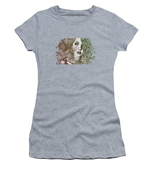 Wake - Autumn - Street Art Woman With Maple Leaves Tattoo Women's T-Shirt