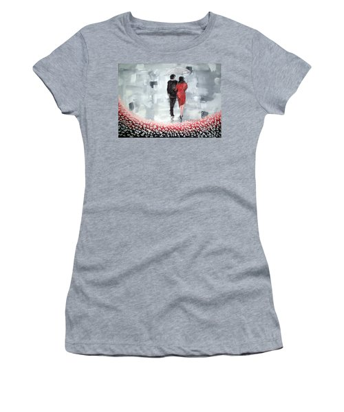 Walk In The Garden Women's T-Shirt (Athletic Fit)