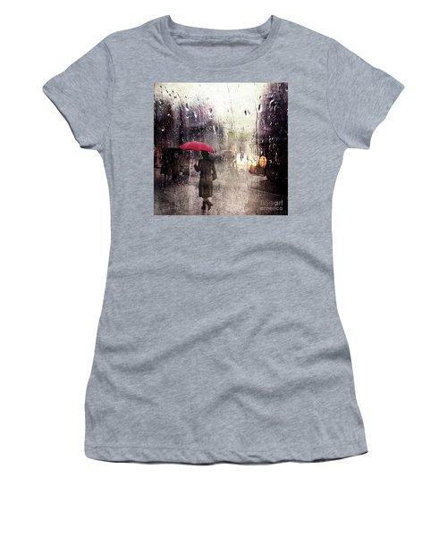 Walking In The Rain Somewhere Women's T-Shirt