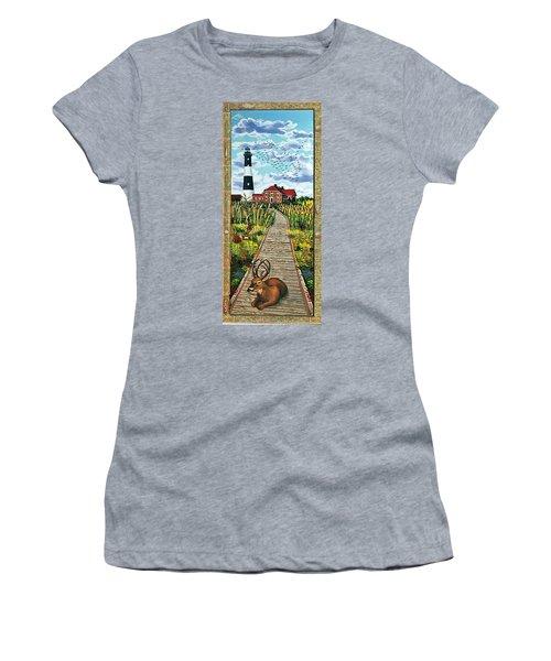 Walkway To Fire Island Lighthouse Women's T-Shirt