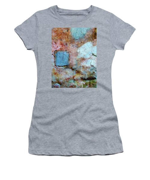 Women's T-Shirt (Junior Cut) featuring the photograph Wall Abstract 138 by Maria Huntley