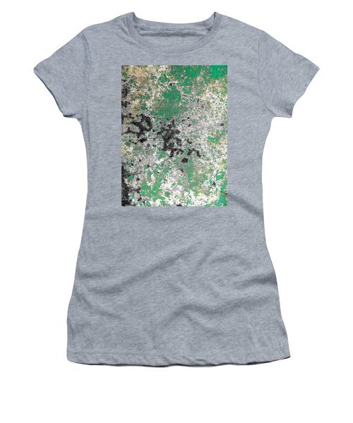 Women's T-Shirt (Junior Cut) featuring the photograph Wall Abstract 160 by Maria Huntley