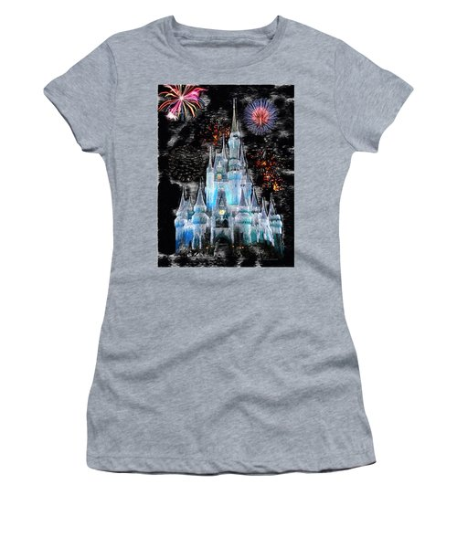 Walt Disney World Frosty Holiday Castle Mp Women's T-Shirt (Athletic Fit)
