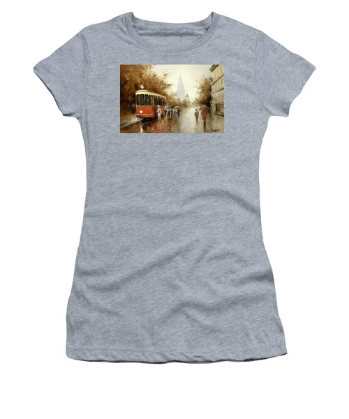 Warm Moscow Autumn Of 1953 Women's T-Shirt (Junior Cut) by Igor Medvedev