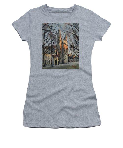 Warm Winterlight Olv Plein Women's T-Shirt (Athletic Fit)