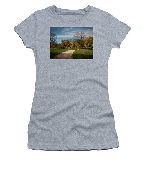 Washington Walkway Women's T-Shirt (Junior Cut) by Kimberly Mackowski