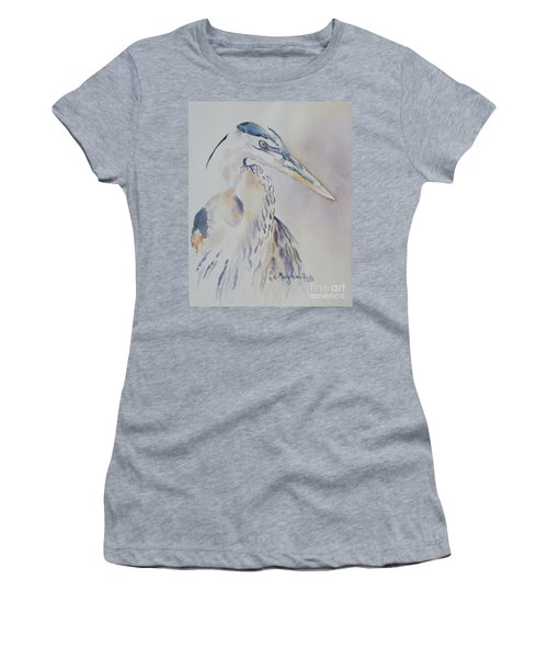 Women's T-Shirt (Junior Cut) featuring the painting Watching by Mary Haley-Rocks