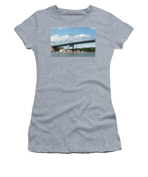 Water And Ship Under The Bridge Women's T-Shirt