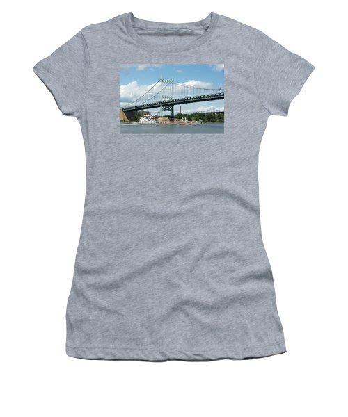 Water And Ship Under The Bridge Women's T-Shirt