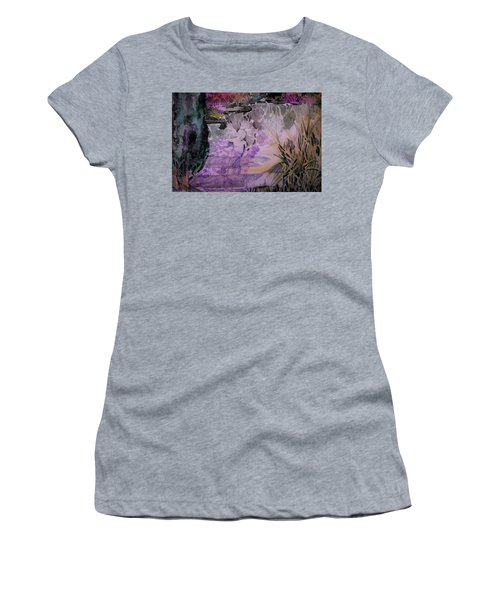 Women's T-Shirt (Junior Cut) featuring the painting Water Sprite by Mindy Newman