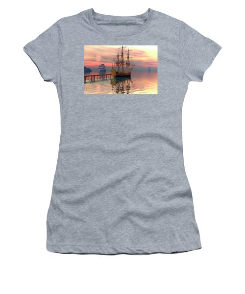 Water Traffic Women's T-Shirt (Junior Cut) by Claude McCoy