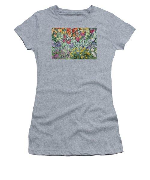Watercolor - Empress Hotel Gardens Women's T-Shirt