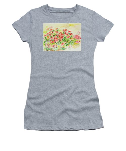Women's T-Shirt featuring the painting Watercolor Series 9 by Ingrid Dohm