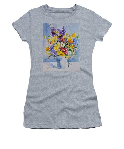 Women's T-Shirt featuring the painting Watercolor Series No. 215 by Ingrid Dohm