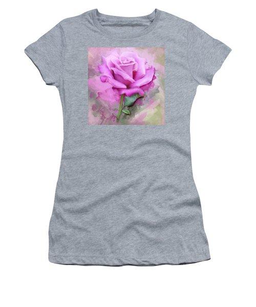 Watercolour Pastel Lilac Rose Women's T-Shirt